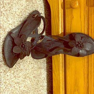NEW Black BORN FLOWER Sandals.